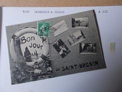 LOIRE ATLANTIQUE CONVOYEUR De LIGNE 3100 PAIMBOEUF à PORNIC Aller III  Cpa Saint Brevin 1 Bonjour Multivues Cartes - Marcofilia (sobres)