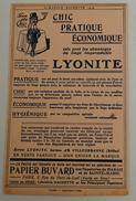 BUVARD LYONITE CHIC PRATIQUE ECONOMIQUE ALMANACH HACHETTE 1914 - Textile & Vestimentaire