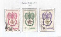 Cambogia 1962 Malaria Valori N.3 Usati  Scott 106/108 + See Scans