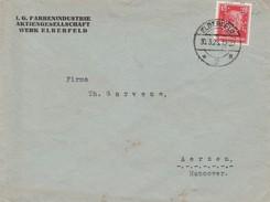Allemagne Timbres Perforés Perfins Sur Lettre De Elberfeld 1928 - Cartas
