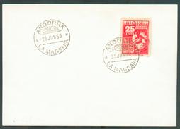 N°52 Sur FDC Obl. LA MASSANA - 11838 - Andorre Espagnol