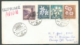 N°56-61/63 Sur Lettre Par Avion Obl. SAN JULIAN De LORIA 11 Sept. 1971 Vers Chicago - 11839 - Andorre Espagnol
