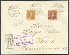 N°114-118 Obl. Dc LUXEMBOURG Sur Lettre Recommandée Du 18-10-1916 Vers Wien + Gr. Auslandstelle Trier Freigegeben - 1184