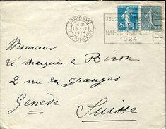 21921 France, Circuled Cover 1924 Paris Rue Jouffroy,jeux Olympiques De Paris 1924
