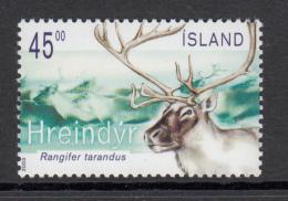Iceland MNH 2003 Scott #999 Reindeer - 1944-... Republique