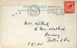 21925 England Circuled Card  1925 With Special Postmark Torchlight Tattoo Stadium Wembley