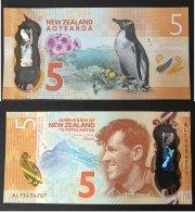 Banconota New Zeland 5 Dollars 2015/2016 UNC-FDS  (polymer Banknote) - Nuova Zelanda