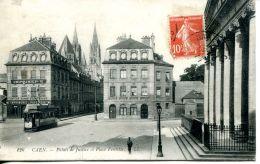 N°30849 -cpa Caen -palais De Justice Et Place Fontette- - Caen