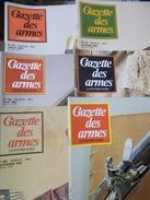 MILITARIA CIVIL REVUE LA GAZETTE DES ARMES PAR 6 NUMEROS ICI 107 AU 112 ANNEE 1982 Fusil Pistolet épée Munition Armée - Books