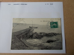 44 LOIRE ATLANTIQUE CONVOYEUR De LIGNE 2287 GUERANDE à HERBIGNAC Aller III Cachet Bleu Sur Cpa Lerat 1912 - Piriac Sur Mer
