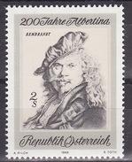 REMBRANDT - AUSTRIA 1969  Mi 1312  MNH**