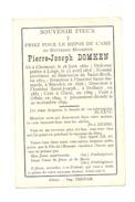 Faire Part De Décès - L'abbé Pierre DOMKEN - Clermont 1850, Theux, Stavelot, Dolhain, Glain, Othée 1899 (pog) - Esquela