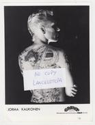 PHOTO PRESSE ORIGINALE 18X24 / JORMA KAUKONEN (TATOUAGE Dans Le Dos) GUITARISTE Du GROUPE JEFFERSON AIRPLANE - Célébrités