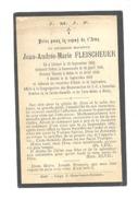 Faire Part De Décès - L'abbé Jean FLEISCHEUER - Sittard 1862 - Ruremonde, Othée 1889 (pog) - Esquela