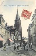 Mons - Rue D'Havré Et Eglise St.-Nicolas - Mons