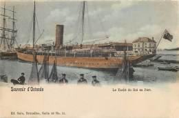 Ostende Nels Série 28 N°21 -  Le Yacht Du Roi Au Port