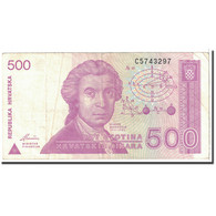 Croatie, 500 Dinara, 1991, KM:21a, 1991-10-08, TTB - Croatia