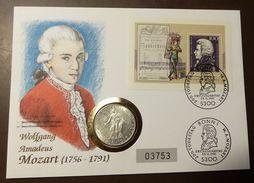 Numisbrief Coin Cover Österreich  Mozart 25 Schilling Silber #numis19 - Autriche