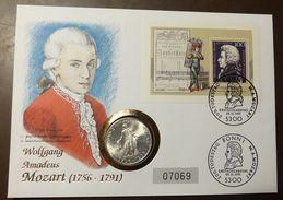 Numisbrief Coin Cover Österreich  Mozart 25 Schilling Silber #numis20 - Autriche