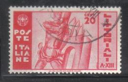3RG686 - REGNO 1935 , 20 Cent N. 377  . Littoriali - Gebraucht