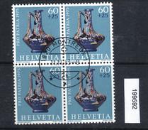 Schweiz PP 1975 Zst. 169 / Mi. 1056 Viererblock Ersttagsstempel - Archéologie