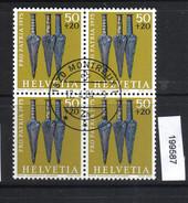 Schweiz PP 1975 Zst. 168 / Mi. 1055 Viererblock Ersttagsstempel - Archéologie