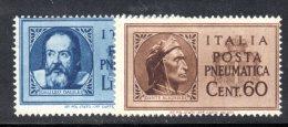 Y233 - REGNO 1945 , Posta Pneumatica Serie N. 16/17  ***  MNH  Gomma Di Guerra - 5. 1944-46 Lieutenance & Umberto II