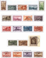 Saar Mi 179 - 194 + 195 - 198 Gestempelt/used/obl. Volksabstimmung 1935 - 1920-35 Saargebiet – Abstimmungsgebiet