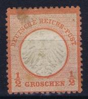 Deutsche Reich: Mi Nr 3 MH/* Falz/ Charniere Spot - Ungebraucht