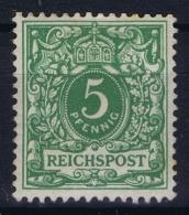 Deutsche Reich: Mi Nr 46B  Gelbgrün MH/* Falz/ Charniere 1890 - Deutschland