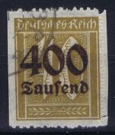 Deutsche Reich: Mi Nr 300 Udr  Nür Rechts Durchstochen Gestempelt/used/obl. - Gebraucht