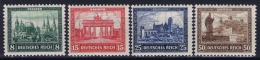 Deutsche Reich:  Mi Nr 446 - 449 MH/* Falz/ Charniere  447 = Postfrisch  1924