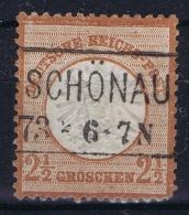 Deutsche Reich:  Mi Nr 21 Gestempelt/used/obl. Schönau - Germania