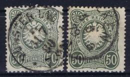 Deutsche Reich:  Mi Nr 38 A + B  Gestempelt/used/obl.