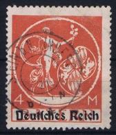 Deutsche Reich:  Mi Nr 135 II   Gestempelt/used/obl. 1920 Light Fold - Germania
