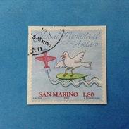2009 SAN MARINO FRANCOBOLLO USATO STAMP USED - GIOCHI MONDIALI DELL'ARIA 1,80 - - San Marino