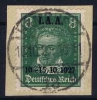 Deutsche Reich:  Mi 407 Ersttag Stempel  10-10-1927  Gestempelt/used/obl. 19237