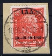 Deutsche Reich:  Mi 408 Ersttag Stempel  10-10-1927  Gestempelt/used/obl. 19237