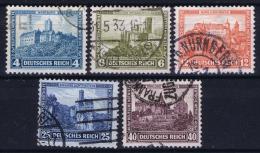Deutsche Reich:  Mi 474 - 478  Gestempelt/used/obl. 1932