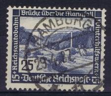Deutsche Reich:  Mi 641 X Senkrechte Gummiriefelung  Gestempelt/used/obl. 1936 - Deutschland