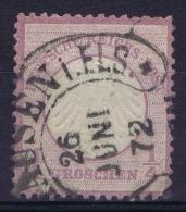 Deutsche Reich: Mi Nr 1 Hufeisen Stempel Gestempelt/used/obl. Signed/ Signé/signiert Brun - Germany