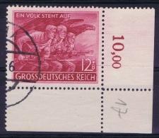 Deutsche Reich: Mi Nr 908II Gestempelt/used/obl. Stempel Falsch, 1945 Weiser Punkt Uber + - Deutschland