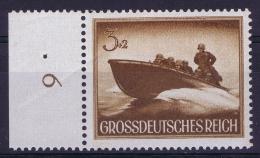Deutsche Reich: Mi Nr 873 X Senkr. GummiPostfrisch/neuf Sans Charniere /MNH/**  Has A Fold. - Deutschland
