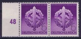 Deutsche Reich: Mi Nr 818 III + 818 Postfrisch/neuf Sans Charniere /MNH/**  1942 (S In Schwert) - Deutschland