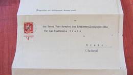 DR Bis 32: Dienstpost-Brief 10 Pfg UR Mit HAN-Teil H 7770 Faltbrief - Auszug Aus Strafregister Aus Hof 1925 Knr: 107