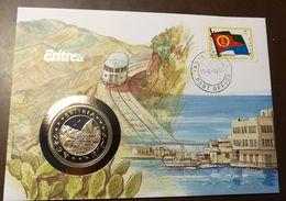 Numisbrief Coin Cover Eritrea  1 Dollar 1993  Unc   #numis47 - Eritrea