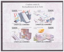 0214 Comores 2010 Climate Fight Againt Heating Earth S/S MNH Imperf - Protección Del Medio Ambiente Y Del Clima