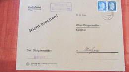 DR: Bürgermeisterbrief PSSt. Mutzschwitz über Lommatzsch (Bez.Dresden) Vom 2.4.44 Auf Vordruckumschlag Knr: PSSt. - Briefe U. Dokumente