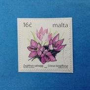 1999 MALTA FRANCOBOLLO USATO STAMP USED - FLORA PIANTE FIORI 16 C - Malta