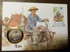Numisbrief Coin Cover  Laos  10 Kip  1993     #numis59 - Laos